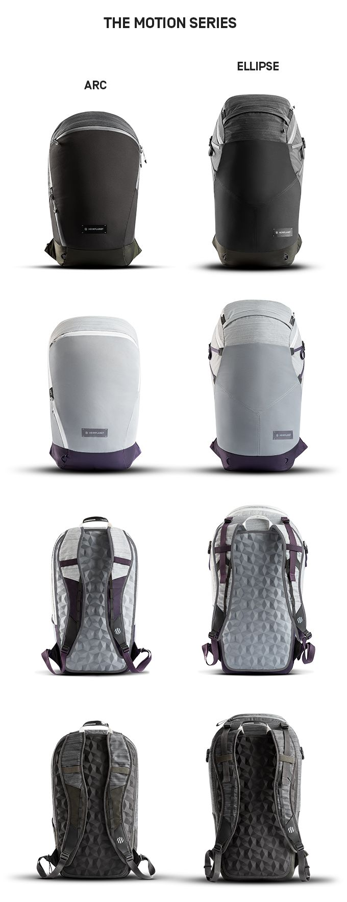 The future of active packs - the MOTION Series by HEIMPLANET, perfect for every trip and every day, wherever you go.