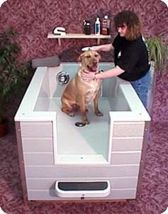 Freestanding tub...thus is brilliant! It's back wrenching to wash at a regular tub!