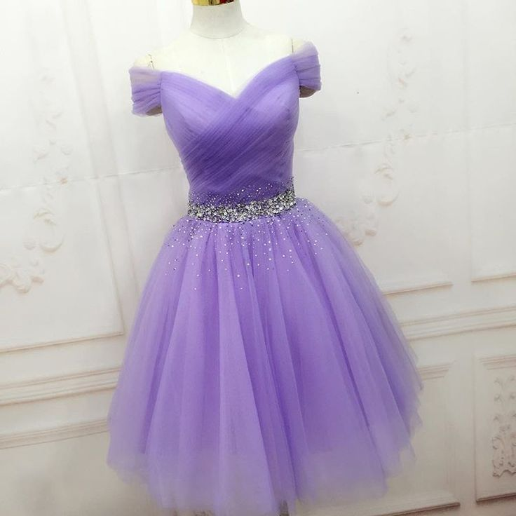 Elegant Prom Dress, Tulle Prom Dress,Short Prom