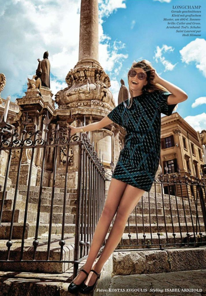 #DimphyJanse by #KostasAvgoulis for #ElleGermany August 2014