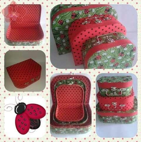 Trio de maletas para decoração de festas!