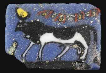AN EGYPTIAN GLASS INLAY   PTOLEMAIC PERIOD - ROMAN PERIOD, CIRCA 3RD-1ST CENTURY B.C.