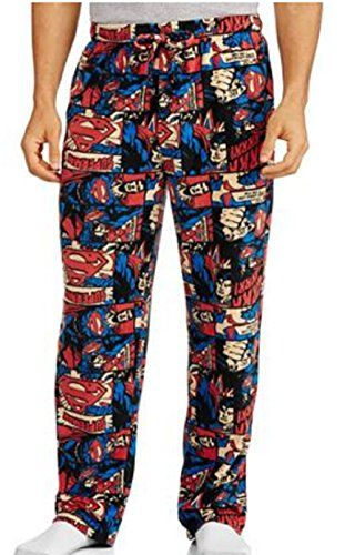 Big Men's Xl Superman Fleece Sleep Pants Loungewear   Big Men's Xl Superman Fleece Sleep Pants Loungewear Made from pure polyester fleece, these pants keep you warm and comfortable while lounging around the house and sleeping. An elastic waistband makes them easy to take off and put on. These big men's sleep pants feature a relaxed fit and a button fly. They are machine washable.  http://www.allsleepwear.com/big-mens-xl-superman-fleece-sleep-pants-loungewear/