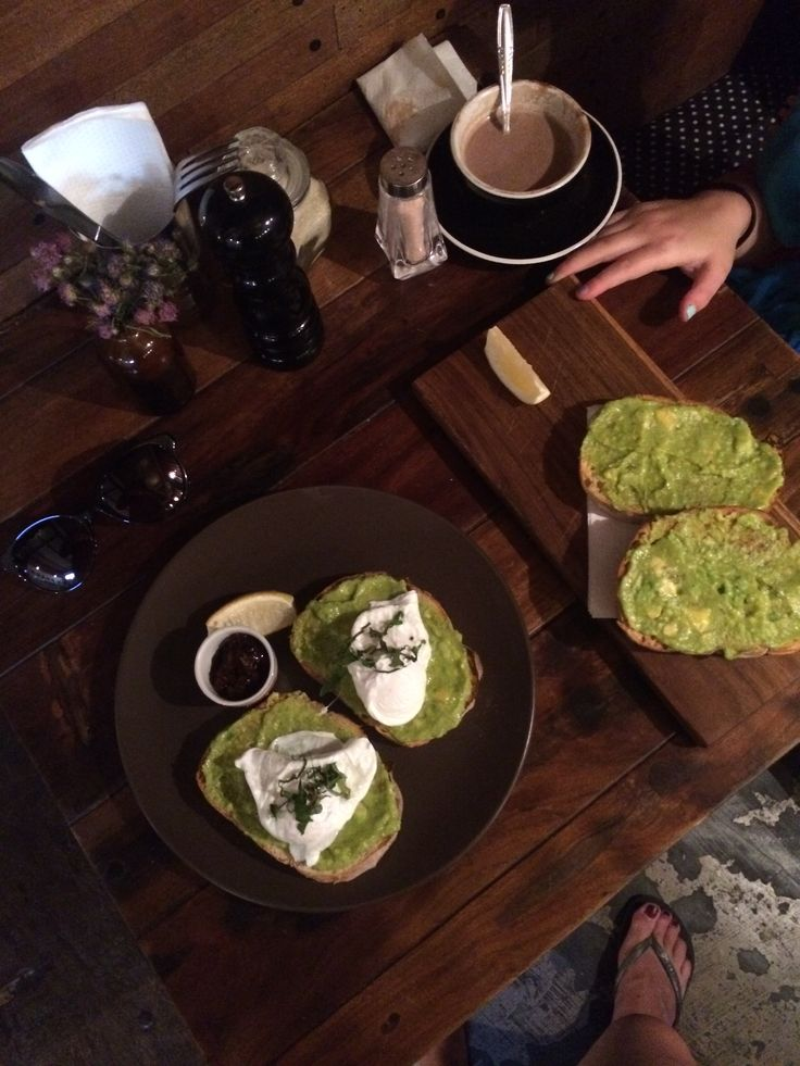 Amazing avo on toast with poached eggs at Revlover