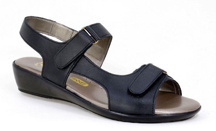 Natural Steps Handmade Genuine Leather Health Shoe range Sandal with Velcro straps. R 619. Colour: Black Handcrafted in Durban, South Africa.  Code: 418