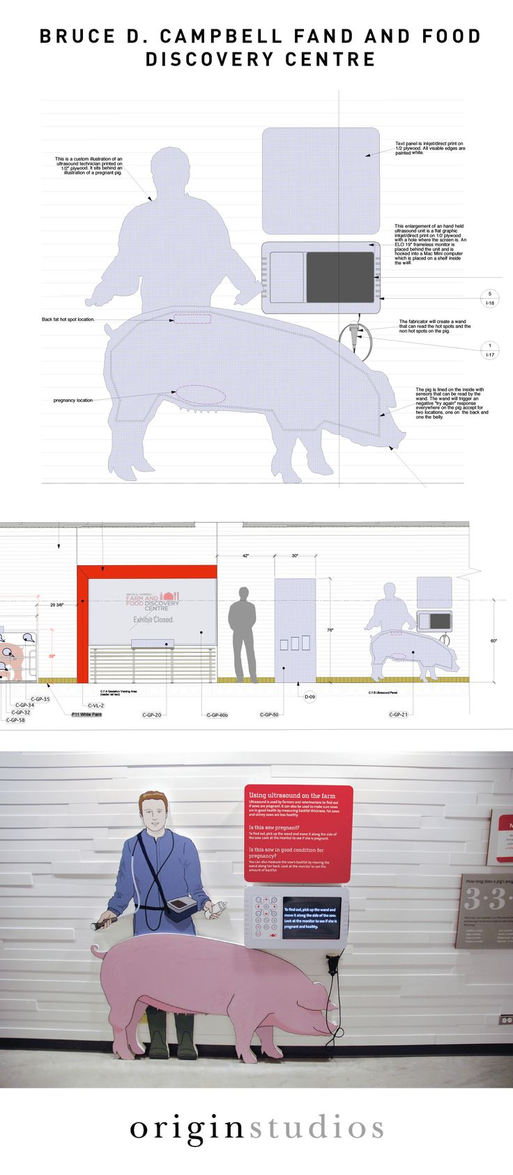 Exhibit Concept Graphics, Visitor Centre Exhibit, Bruce D. Campbell Farm & Food Discovery Centre, University of Manitoba, Designed by: Origin Studios