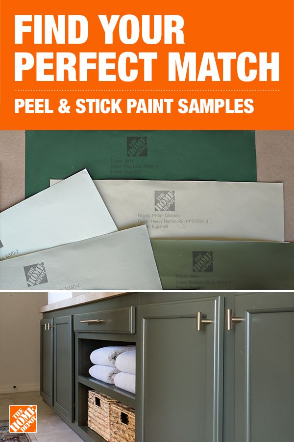 Try A Better Way To Sample Paint With Peel Stick Paint Sample Kits Available At The Home Depot Home Depot Paint Samples Home Depot Paint Home