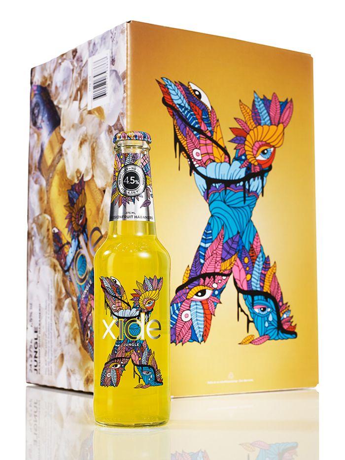 Carlsberg Xide by Nine jungle #packaging PD
