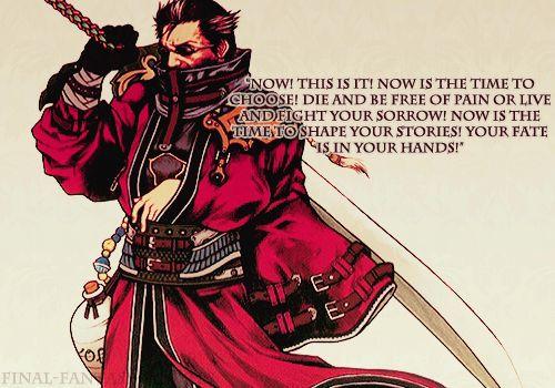 Auron from Final Fantasy X.