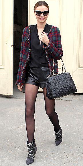 Miranda Kerr doing plaid the right way :)