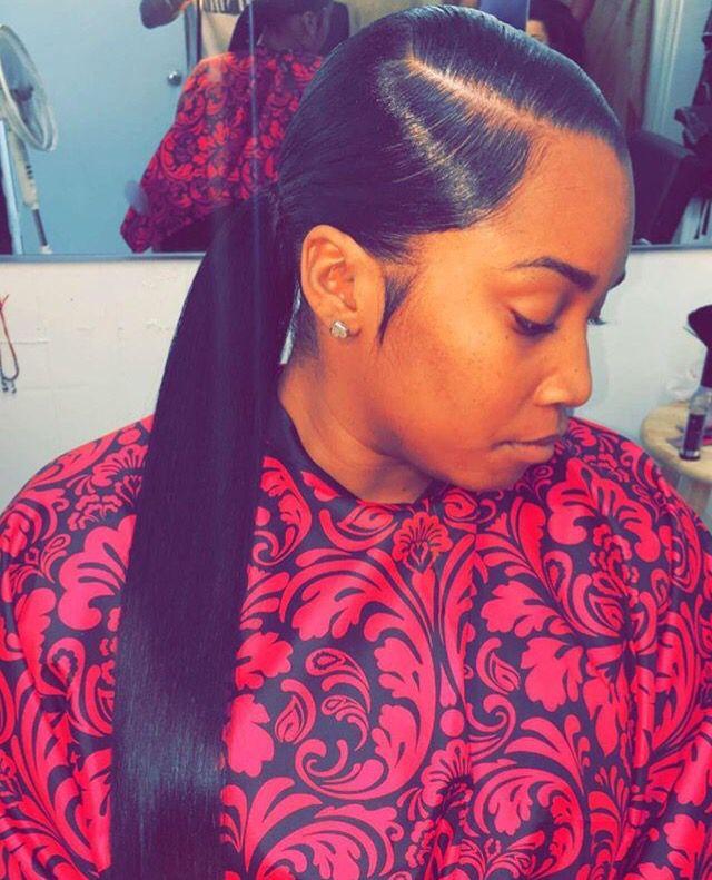 sleek ponytail follow