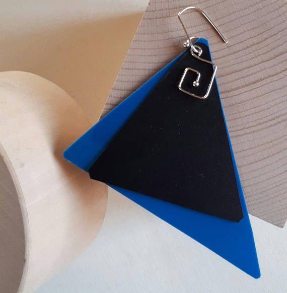 Guarda questo articolo nel mio negozio Etsy https://www.etsy.com/it/listing/567237689/orecchini-geometrici-leboncine-by