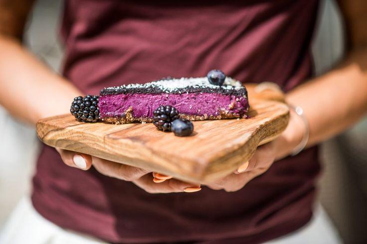 Surowe, wegańskie ciasto z borówkami - healthy plan by ann