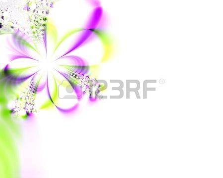 disegni astratti: Un ad alta risoluzione, generato dal computer, per simulare la progettazione frattale un fiore invito per matrimoni, docce, o altri eventi speciali (come ad esempio la Festa della mamma, Pasqua, o il giorno di San Valentino). Archivio Fotografico