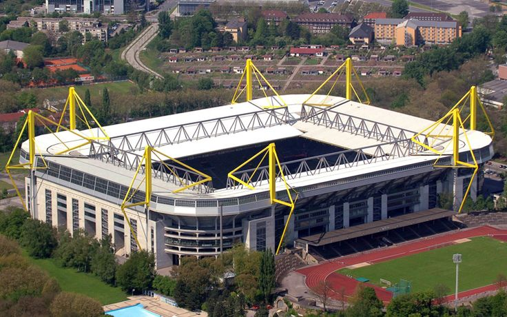 Westfalenstadion (Signal Iduna Park) & Stadion Rote Erde; Borussia Dortmund -- Dortmund.