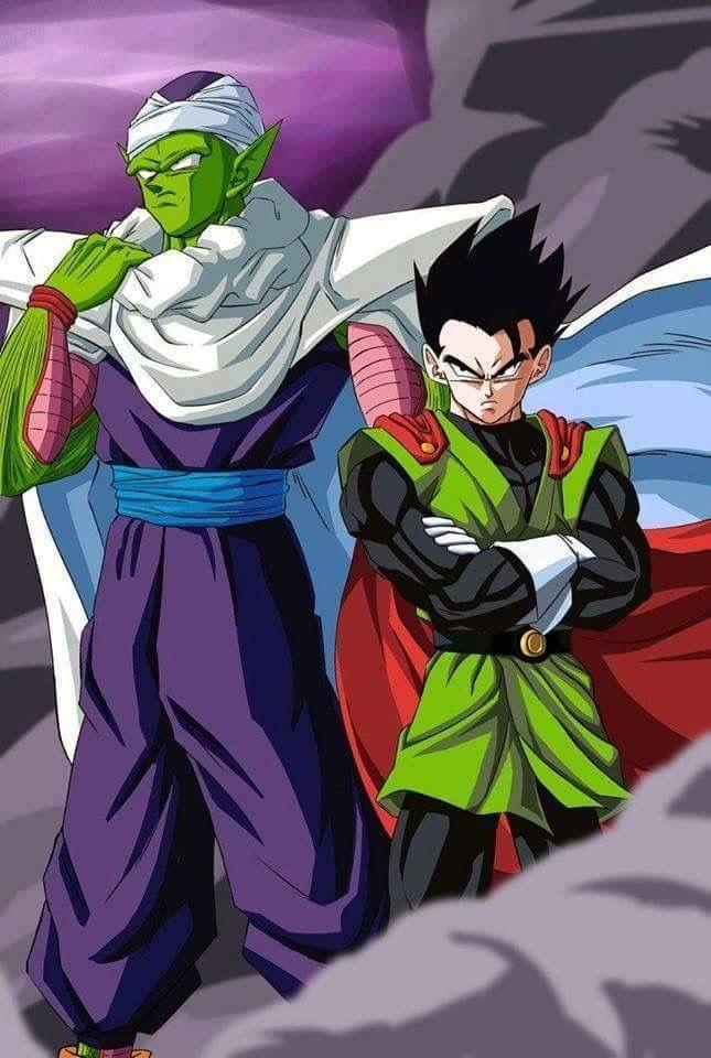 Piccolo ayudando al gran saiyaman