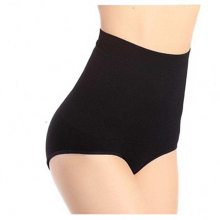 High Quality Brand Plus Size Black Slimming Tummy Knickers Waist Girdle Hip Shapewear Pants Body Shaper Underwear Postpartum