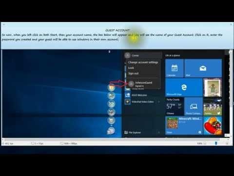 Add a Guest Account in Windows 10