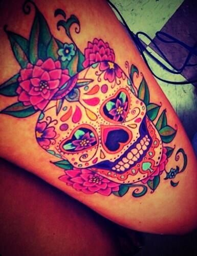 Thigh Sugar Skull