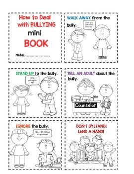 Students will cut out and color this mini book on different ways to deal with bullies.