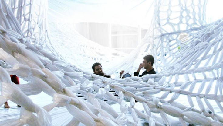 Design could be fun, interactive, experiential and much more. Yatzer presents the WHITE installation of Studio 400, which is reminiscent of relational art and provides an inviting space where the viewers do not just remain in this viewing role, but also become the inhabitants of a highly interactive space where the research books of the students are showcased.