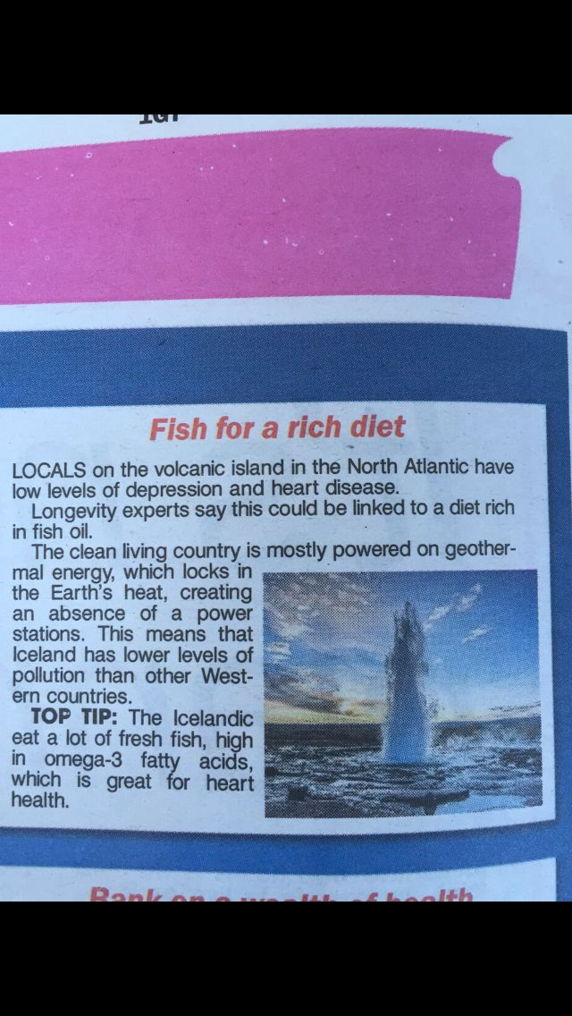 A clipping from The Sun paper today outlining a couple of the many #health benefits of eating fish  http://www.anchorsmokehouse.co.uk