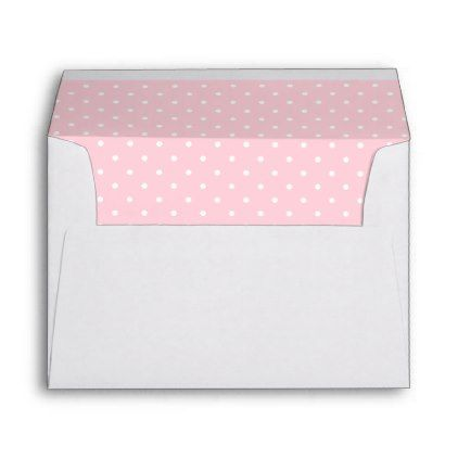 Cute Cat Pink Butterfly Dot Return Address Printed Envelope - baby shower ideas party babies newborn gifts