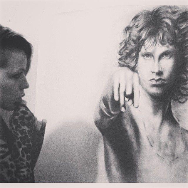 """Jim Morrison""  Portrait in graphite on paper 1mt x 70cm"