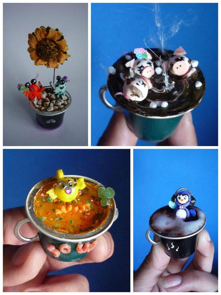 Les 208 meilleures images propos de bricolage sur - Que faire avec des capsules de cafe ...