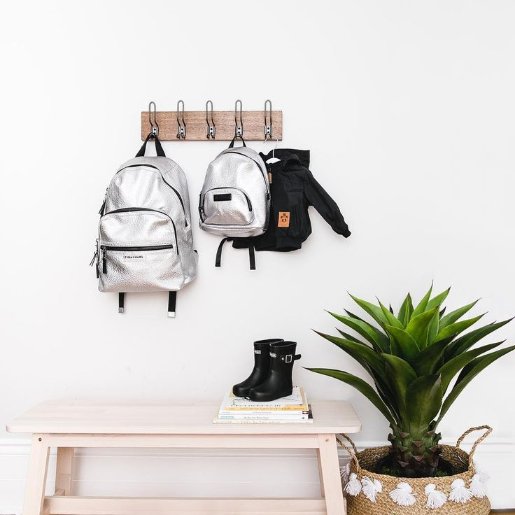 Twinning with your mini.  ELWOOD Silver Diaper Bag with our Mini ELWOOD kids backpack.