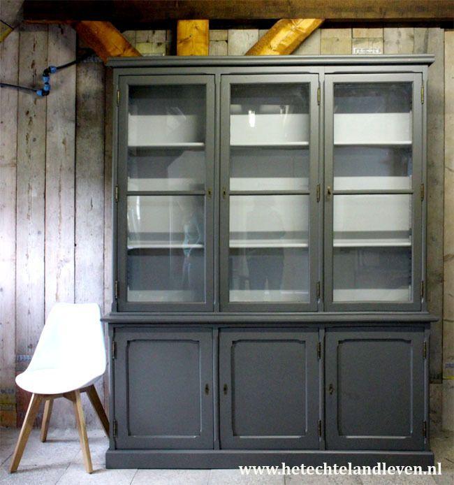 Unieke grote industriele schoolkast e1539 industriele kasten pinterest kasten oude - Dressoir originele keuken ...