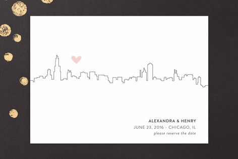 Love In The City - Chicago Save The Date Cards by Erin Deegan at minted.com