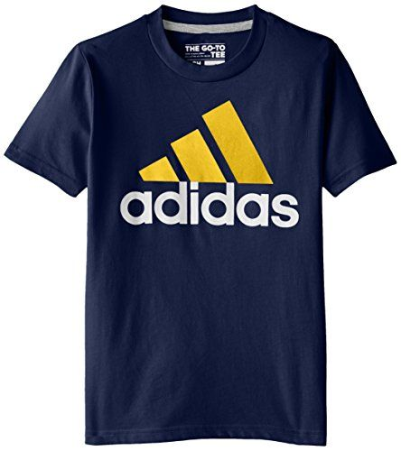 adidas Big Boys' Adi Logo Short Sleeve Tee, Navy/Yellow, Small adidas http://www.amazon.com/dp/B00U0XOE72/ref=cm_sw_r_pi_dp_oQ.ewb0EETMA9