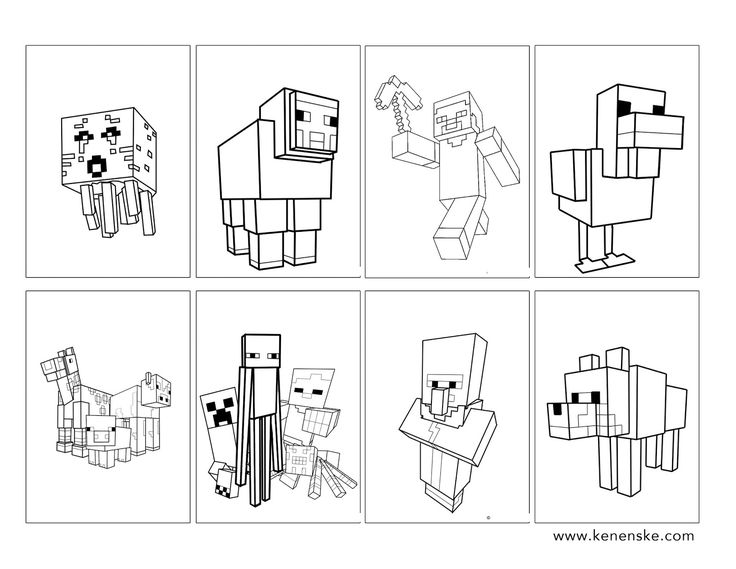 Minecraft Party Find This Pin And More On Coloring Pages