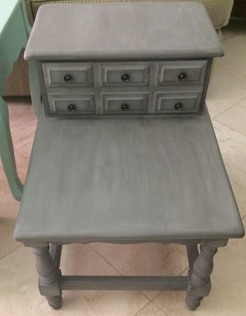 Brenda Bordelon At Main House Antique Center Painted This Table In Manatee  Gray And Finished It