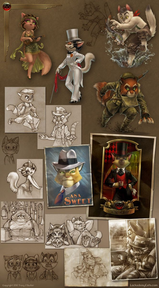 Character Design Artist Interviews : Lackadaisy gobbledygook by tracyjb on deviantart artist