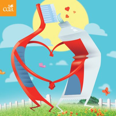 Happy Valentine's Day from CDA! Re-pin this to share the #dental love. #valentinesday