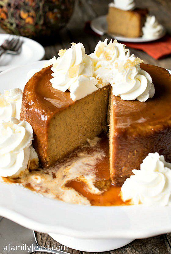 """Back in the late 1800's, according to Mrs. Fish, Thanksgiving dinner menus in New England """"…had puddings as usual…"""" such as this delicious New England Pumpkin Caramel Pudding!"""