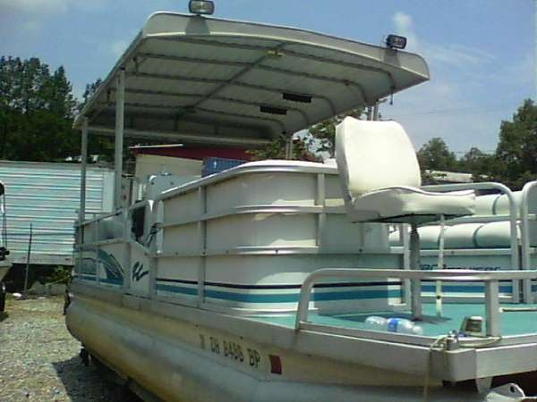 1995 riviera cruiser 24 foot fish and pleasure pontoon boats boatsdotcom pontoon boats