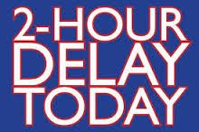 Plymouth Schools are on a two hour delay due to road conditions Monday, January 12, 2015. #PHS_WIRE PLEASE SPREAD THE NEWS!