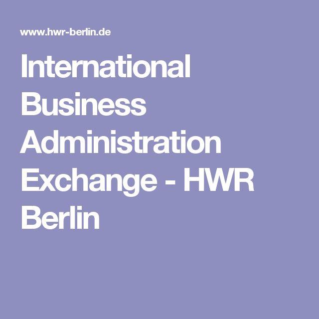 International Business Administration Exchange-HWR Berlin
