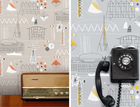 Love the wallpaper from Mini Moderns