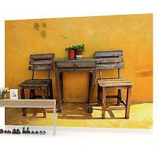 Murale Parete Photo carta da Parati Foto (w1119pp) TAVOLO SEDIE arte cucina Cafe