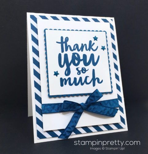 Stampin Up Thankful Thoughts Thank You Card Idea - Mary Fish StampinUp