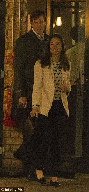Looking good: The 31-year-old was pretty in a tailored cream blazer, denim jeans and a hea...