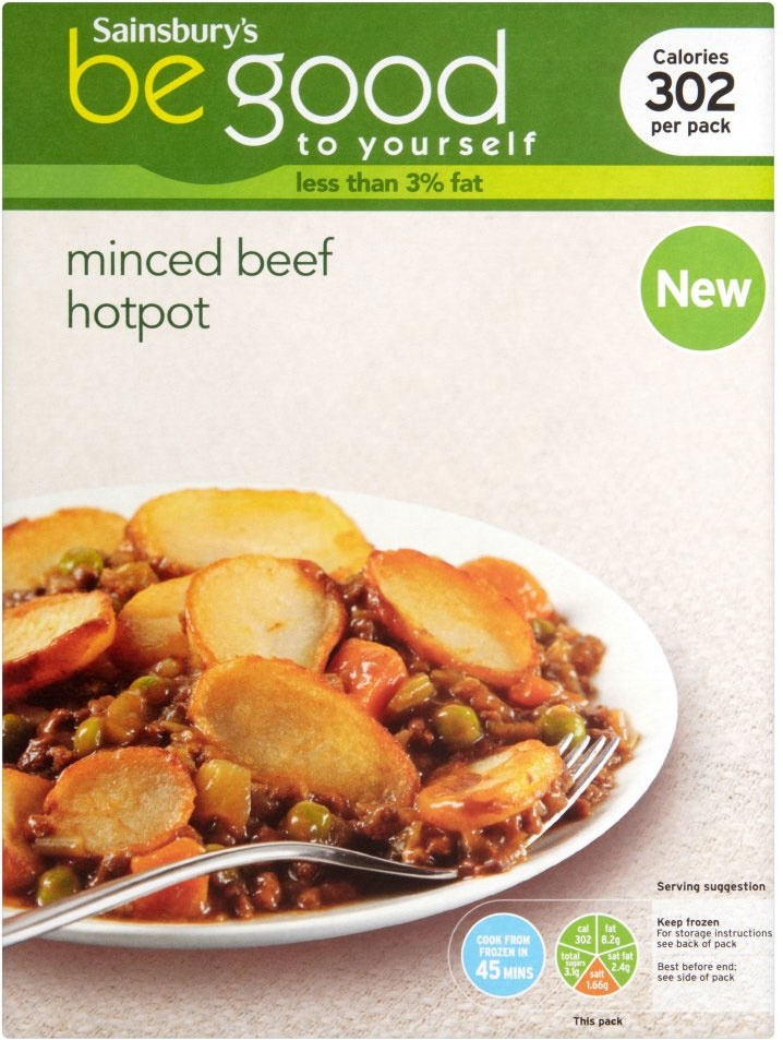 Sainsbury's Be Good to Yourself Minced Beef Hotpot (400g)