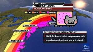 Nyan Cat in the weather.