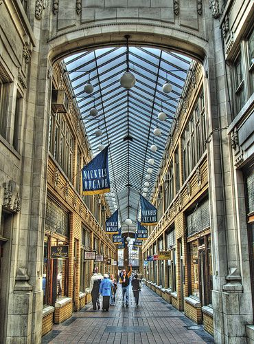 A neat photo of Nickels Arcade in Ann Arbor, MI.  Interesting shops and awesome coffee at Comet!