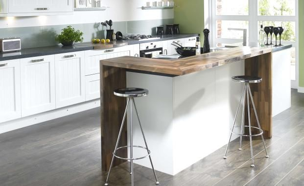 Not sure this idea would work/fit but I like the idea of a raised breakfast bar