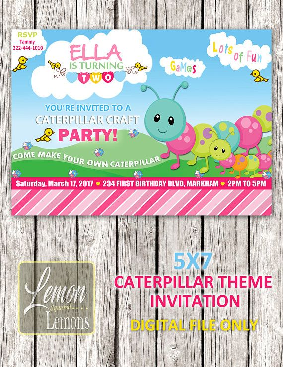Caterpillar Party Invitation  Printable DIY